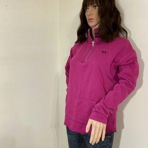 PINK Victoria's Secret Magenta Quarter Zip Jacket